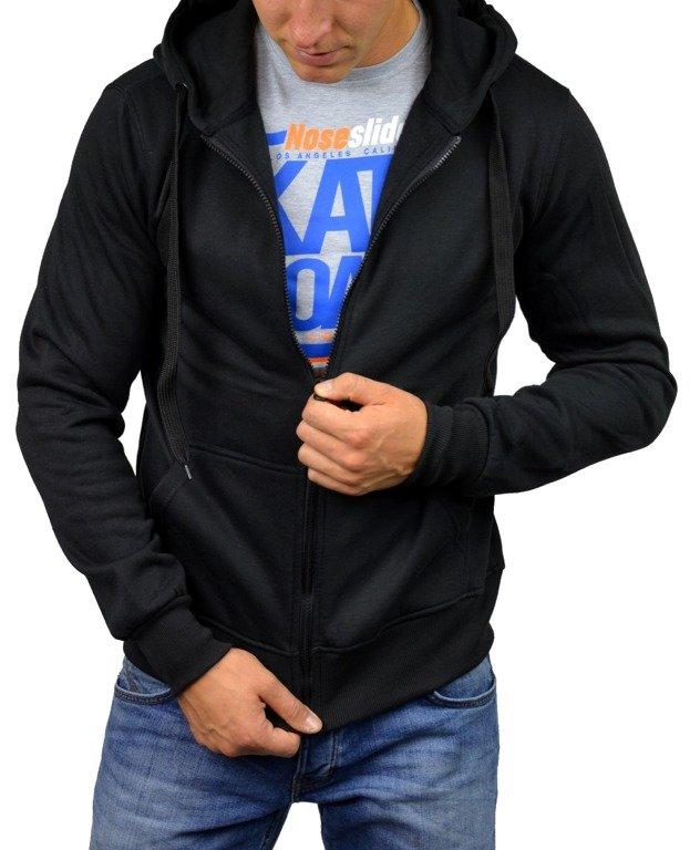 czarna bluza z kapturem klasyczna